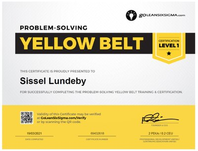 yellowbelt certificate